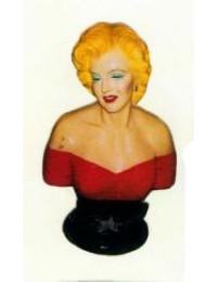 hübsche Marilyn Monroe im roten Kleid als Büste
