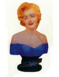 hübsche Marilyn Monroe im blauen Kleid als Büste
