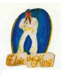 Elvis the Kind als Wandschild