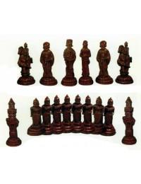 großes Schachspiel für Garten Set dunkle Figuren