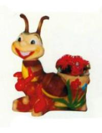 Ameise am Blumentopf