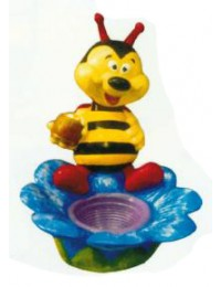 bunte Biene auf Blüte als Blumentopf Variante 2