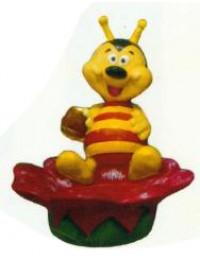 bunte Biene auf Blüte als Blumentopf Variante 3