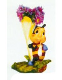 kleine Biene an Blüte zum Bepflanzen Variante 4
