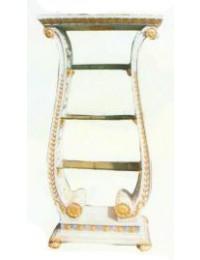 antikes Regal mit Glasböden breit