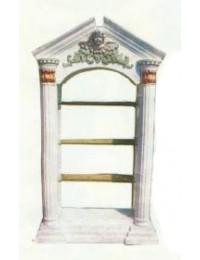 Säulenregal mit drei Glasböden groß