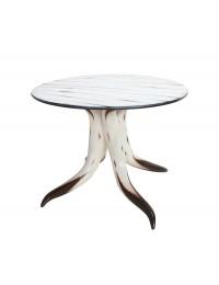Stierhorntisch Rund mit Stierhornplatte Esstisch