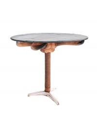 Stierhorn Totenköpfe Tisch mit Seilen
