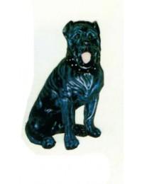 Bulldogge sitzend schwarz