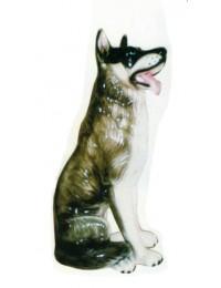 Schäferhund sitzend schwarz weiß