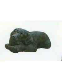 Labrador liegend schwarz