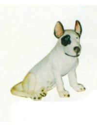 Bullterrier Kampfhund sitzend
