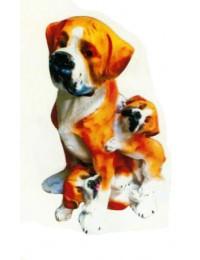 Banter Bulldogge mit Welpen
