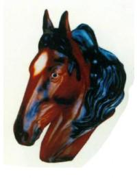 brauner Pferdekopf als Büste