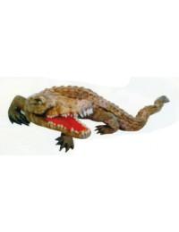 angreifendes Krokodil mit offenem Maul