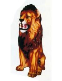 sitzender Löwe mit bösem Gesicht