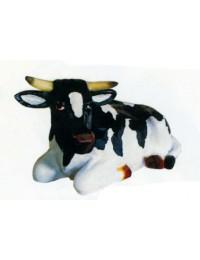 mittlere liegende Kuh Kopf seitlich