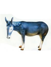 grauer Esel Kopf geduckt