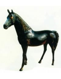 großes laufendes Pferd schwarz