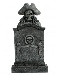 Piratenskelett Grabstein mit Totenköpfen