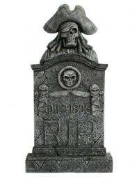 Piratenskelett Grabstein mit Totenköpfen RIP Died 1806