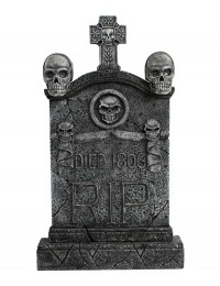 Totenkopf und Kreuz Grabstein mit Totenköpfen RIP