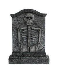 Grabstein mit Skelett