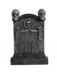 Totenkopf Grabstein mit Totenköpfen RIP (Variante 2)