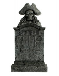 Piratenskelett Grabstein Blackbeard