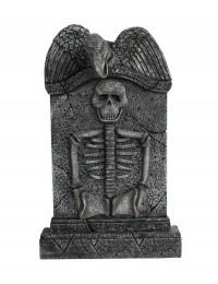 Geier Grabstein mit Skelett