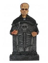 Monster Frankenstein Grabstein mit Skelett