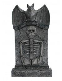 Fledermaus Grabstein mit Skelett