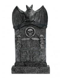 Fledermaus Grabstein mit Totenköpfen