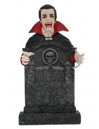 Dracula Grabstein mit Totenköpfen