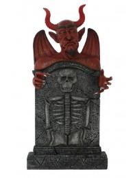 Teufel Grabstein mit Skelett