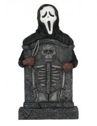 Scream Grabstein mit Skelett