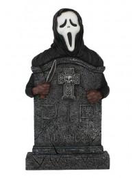 Scream Grabstein mit Kreuz