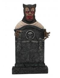 Werwolf Grabstein mit Totenköpfen