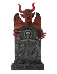 Teufel Grabstein mit Totenköpfen