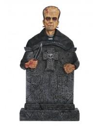 Monster Frankenstein Grabstein mit Kreuz