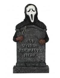 Scream Grabstein mit Wunschbeschriftung