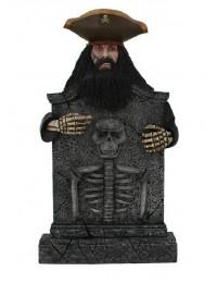 Pirat Blackbeard Grabstein mit Skelett
