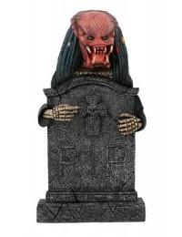 Alien Predator Grabstein mit Kreuz