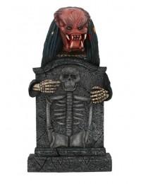 Alien Predator Grabstein mit Skelett