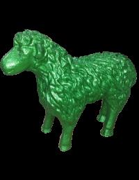 Schaf Glitzer grün