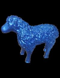 Schaf Glitzer blau