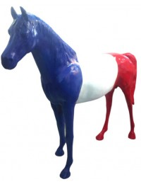 Pferd Trikolore Frankreich
