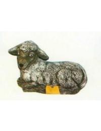 kleines liegendes Schaf schwarz Variante 1