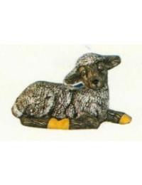 kleines liegendes Schaf schwarz Variante 2