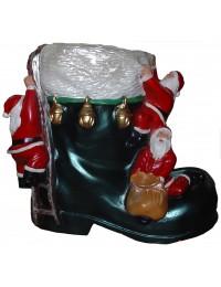 Schuh mit Weihnachtsmänner